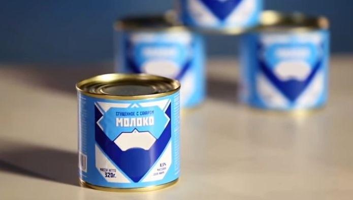 Практически все производители сгущенки используют «советский» дизайн упаковки